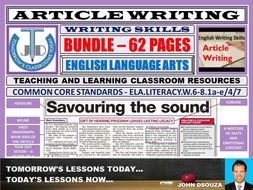 ARTICLE WRITING - CLASSROOM RESOURCES - BUNDLE