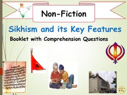 Sikhism  and The 5 Ks Non-Fiction Booklet Reading Comprehension