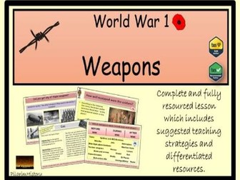 Weapons in World War 1
