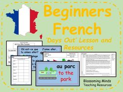 French lesson and resources - Days out - KS2