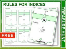 Rules for Indices (Treasure Hunt)