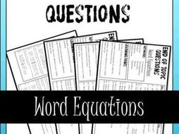 Word Equations End of Topic Questions