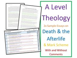 A Level Religious Studies: Model Essays for Theology - Death and the Afterlife
