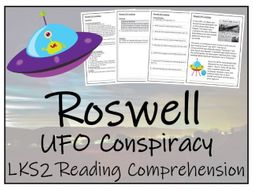 LKS2 - Roswell UFO Conspiracy Reading Comprehension Activity