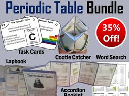 Periodic table task cards and activities bundle by sciencespot periodic table task cards and activities bundle urtaz Gallery