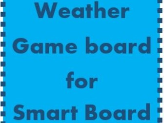 Weather Game board for Smartboard