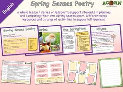 English - Poetry - Spring Senses Poetry - Whole lesson