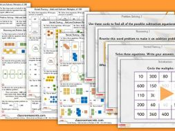 FREE Year 3 Add and Subtract Multiples of 100 Autumn Block 2 Step 1 Maths Lesson Pack