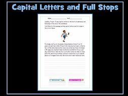 full stops and capital letters worksheet sen resource by krazikas teaching resources. Black Bedroom Furniture Sets. Home Design Ideas