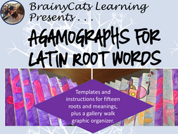 Root Word Fun:  Agamographs for Latin Root Words