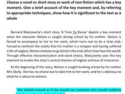 Bernard MacLaverty: 'A Time To Dance' NAT 5 Essay Bundle