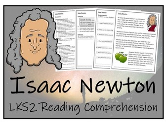 LKS2 Science - Isaac Newton Reading Comprehension Activity