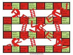Present Perfect Continuous Tense Chutes and Ladders Board Game