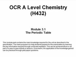 Ocr a level chemistry h432 module 31 the periodic table by ocr a level chemistry h432 module 31 the periodic table urtaz Images