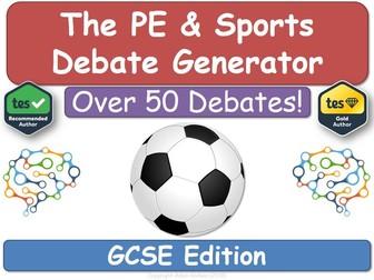The PE & Sports Debate Generator (GCSE, PE, Revision)