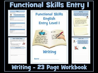 English Functional Skills Entry Level 1 Writing