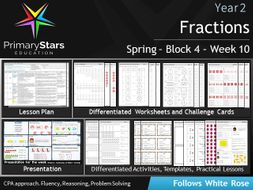 YEAR 2 - Fractions- White Rose - WEEK 10 - Block 4- Spring- Differentiated Planning