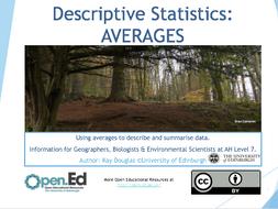 Descriptive Statistics: AVERAGES