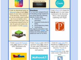 Digital Citizenship Project Choice Board