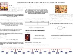 9-1 Rebels and Redcoats - Ep1 - Worksheet to support the Richard Holmes BBC Documentary