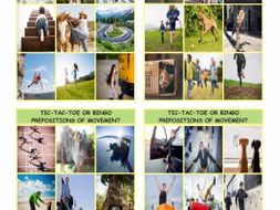 Prepositions of Movement with Photos Tic-Tac-Toe or Bingo