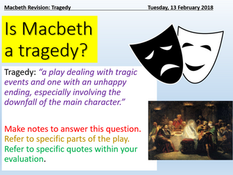 Macbeth - Tragedy