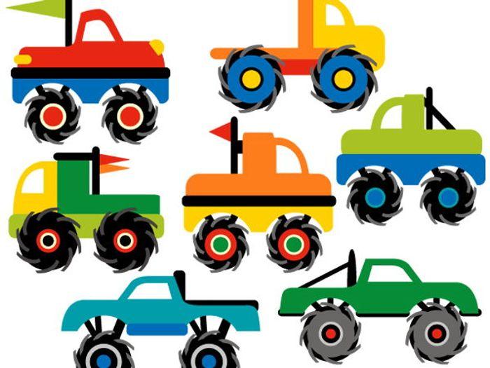 clip art monster trucks by revidevi teaching resources tes rh tes com clip art truck pictures clip art truck unloader