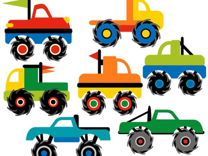 clip art monster trucks by revidevi teaching resources tes rh tes com blaze monster truck clipart monster truck clipart images