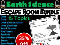 Earth Science Escape Room Bundle