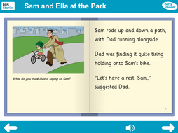 At the Park Interactive Storybook - Early Reader Level - PSHE KS1