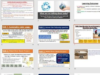 AQA GCSE RESOURCE MANAGEMENT - Sustainable Water Usage (Complete Lesson)