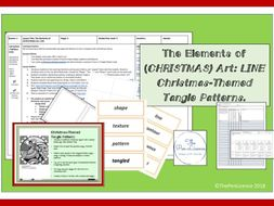 Elements of (Christmas) Art: Line (Tangle Patterns)