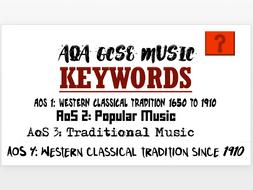 AQA GCSE New Specification Random Keyword Generator by billyrai