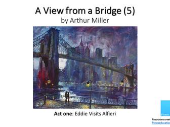 GCSE: A View From a Bridge (5) Act 1 Eddie Visits Alfieri