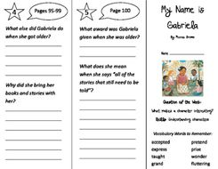 my name is gabriela trifold journeys 2nd grade unit 4 week 3 2011