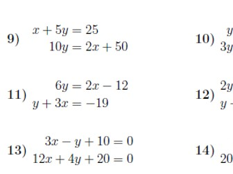 Parallel and perpendicular lines worksheet (with solutions)
