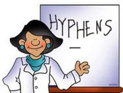 HYPHENS   - word bank of hyphenated words KS2 (grammar and writing)(Alphabet list)