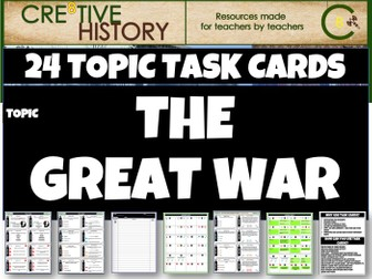 The Great War - History Task Cards