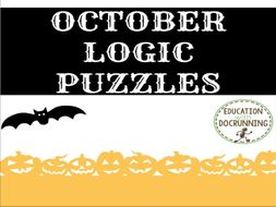 Logic Puzzles: October Logic Puzzles (Great for Autumn)
