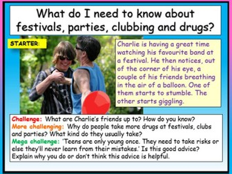Drugs - Festivals + Parties
