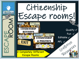 Citizenship Escape Rooms - Back to school