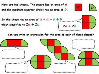 � Algebra as Shapes � Conceptual understanding of expressions