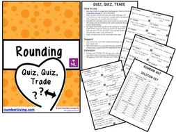 FREE Rounding to Significant Figures, Estimation, Bounds (Quiz Quiz Trade)