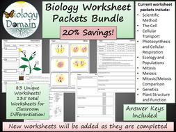 Biology Worksheet Bundle
