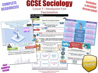 Functionalism - Introduction Unit L5/12 - GCSE Sociology