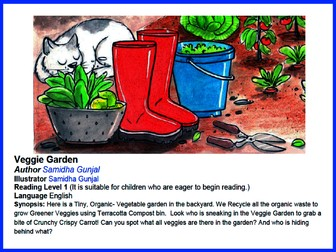 Can you spot it? Veggie Garden - Level 1 Reading Game - Fun English Reading Game.