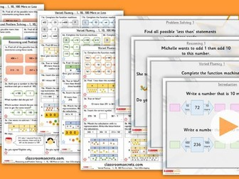 Year 3 1, 10, 100 More or Less Autumn Block 1 Step 6 Lesson Pack