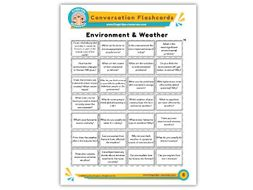Environment & Weather - Conversation Flashcards