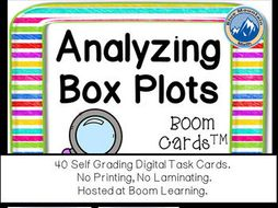 Analyzing Box Plots Boom Cards--Digital Task Cards