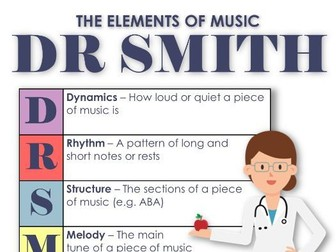 DR SMITH Elements of Music Posters